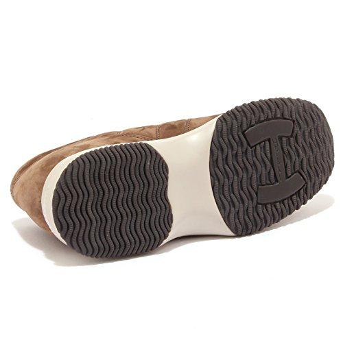 0824369f1f5aa ... Hogan 6860u Sneaker Homme Interactive H Couture Daim Marron Chaussure  Marron Marais Hommes ...
