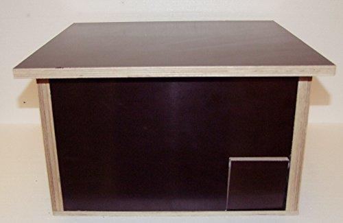 Galleria fotografica The Wood Man S 76: Riccio casa in serigrafia per esterni; dimensioni: 48cm x 36cm x 35cm; con Labyrinth ingresso; senza fondo e ratto Patta