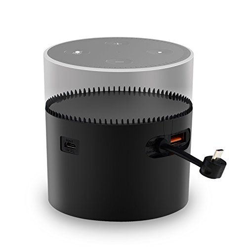 Echo Dot 2 Akku, Cubevit Portable Battery Base für 2nd Generation Echo Dot [Leichtigkeit bewegen] Echo Dot Zubehör 10000mAh Batterie Basis Batterie Station für Echo, Power Bank für Iphone Samsung etc