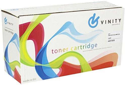 Preisvergleich Produktbild Vinity 5134046086 Kompatible Toner für Oki C301/C321/MC332/MC342/MC342w Ersatz für 44973535, 1500 Seiten, cyan