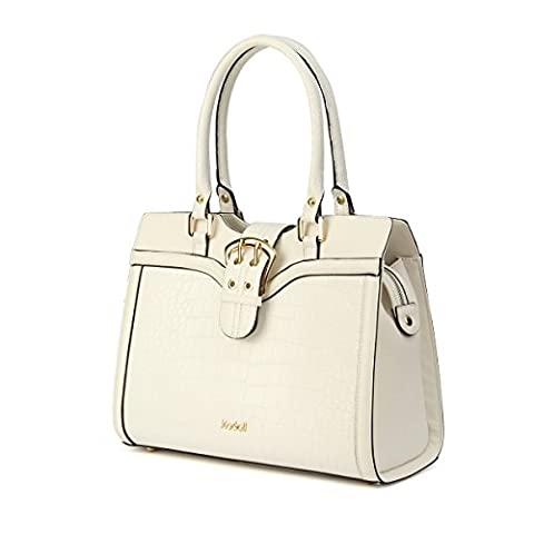 Kadell Women's Luxury Handbag Shoulder Bag For Working PU Leather Top-handle Totes White