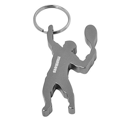 munkees Schlüsselanhänger Tennis-Figur Flaschenöffner, Sport-Fans, Silber, 34921