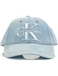 Calvin Klein Jeans Damen Baseball RE-Issue Cap CP Unisex, Blau (Denim Light Blue 443), One Size (Herstellergröße: OS)