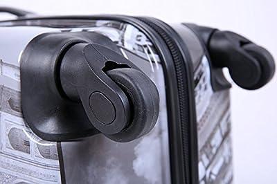 5 Cities Bagage Cabine Bagage à Main Valise Polycarbonate Rigide à 4 Roulettes , Approuvées pour Ryanair , Easyjet , Air France , Lufthansa , Jet2 et Plus