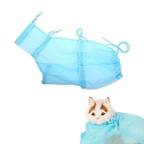 egebeutel Restraint Bag Multifunktionale Katzen Nagel Clipping Reinigung Grooming Bag-Blue (Dusche Bag)