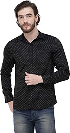 ZAKOD Dotted Cotton Shirts for Men for Casual Use,Normal Wear Shirts,Available Sizes M=38,L=40,XL=42