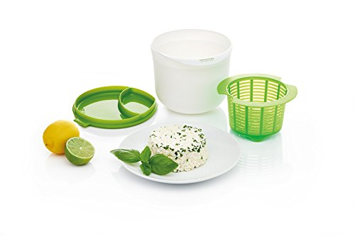 Kitchencraft Homemade microonde alimentazione sana Cheese making kit-green/bianco, multicolore, 15x 17x 12cm