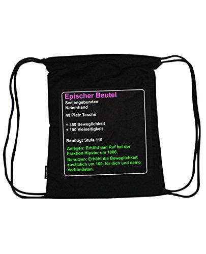 Epic WOW Festival Rucksack schwarz für Weltverbesserer aus Bio-Baumwolle