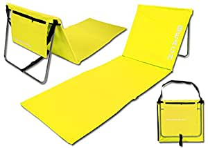 team 101 matelas de plage avec dossier jaune jardin. Black Bedroom Furniture Sets. Home Design Ideas