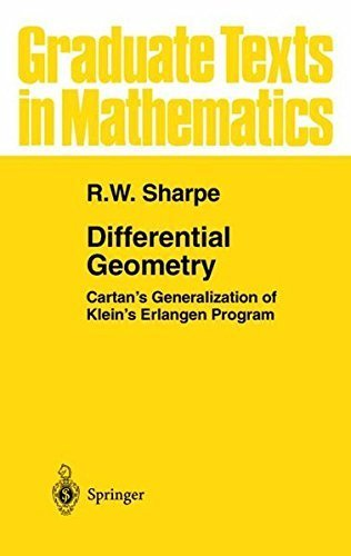 Differential Geometry: Cartan's Generalization of Klein's Erlangen Program (Graduate Texts in Mathematics, Vol. 166) by R.W. Sharpe (2000-11-21)