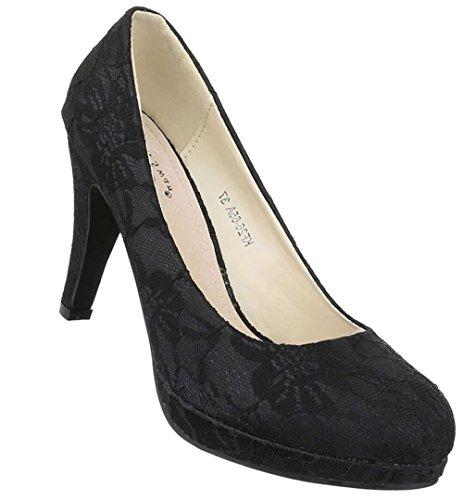 Damen Pumps Schuhe Plateau Boots High Heels Schwarz Beige 36 37 38 39 40 41  37 c3e3630cd9