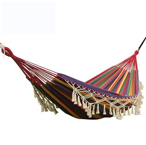 Grande brasiliano tassle amaca 2 persona tela amache doppio lovers letto appeso con corda di cotone e pizzo decorazione per esterni giardino parco campeggio