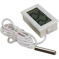 ARCELI  nbsp Termometro digitale LCD Monitoraggio della temperatura con sonda esterna per frigorifero Frigorifero congelatore Acquario   Bianco