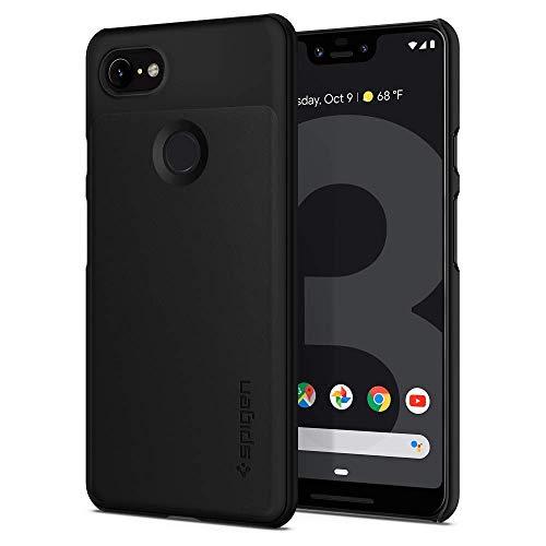 Spigen Thin Fit, Google Pixel 3 XL Hülle, F20CS25028 Slim PC Schale Hardcase Leichte Schutzhülle Schlank Elegant Handyhülle Case (Schwarz)