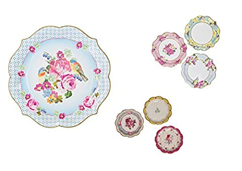 Truly Scrumptious Tableware Party Plate Pack that includes small, medium, and serving plates