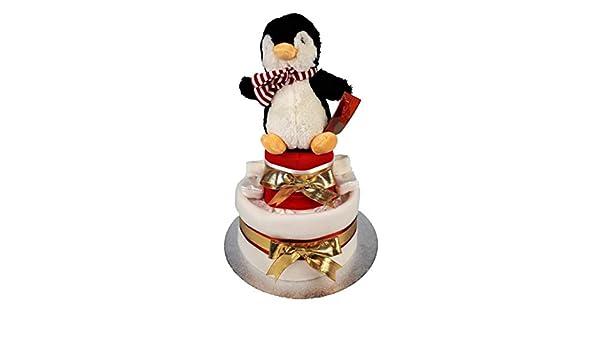 Windeltorte Pinguin 2 Etagen rot