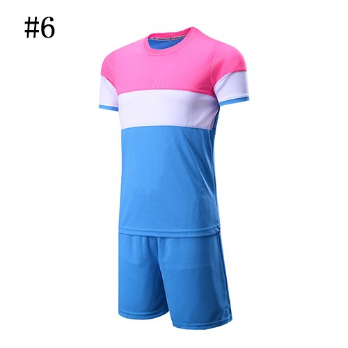 2018 World Cup11443 World Cupfactory Direktverkauf New Style Light Board Fußball Shirt Maker Fußball Jersey Erwachsene Kinderbekleidung Custom Football Jersey, 8810Pink Weiß Blau, Asien Größe XXL (Custom-design-fußball-trikots)