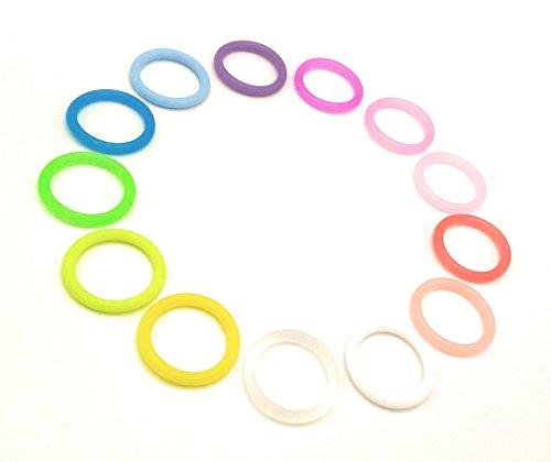 O-Ring Silikonring (Adapter) für Schnuller - Schnullerhalter für Baby Schnullerketten - aus weichem Silikon (Klar) -