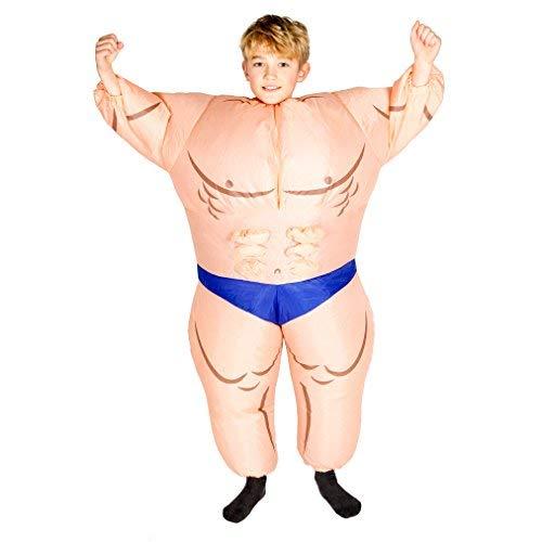 ares Bodybuilder Muskel Mann Anzug für Kinder ()