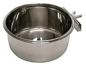 Kerbl 82782 Stainless steel bowl  600 ml, 12 cm Screw mounting for rodents