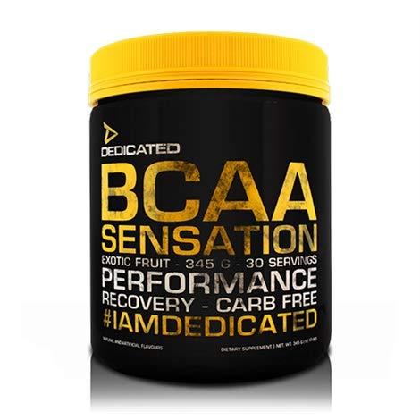 Dedicated Nutrition BCAA Sensation Aminosäure Amino Regeneration Muskelaufbau Fitness Bodybuilding (405g Lemon Cola - Zitrone Cola)