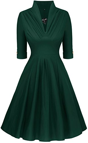 Angerella Vintage Classica Vestito Scampanato Casual 1950 Junior Abiti da Sera