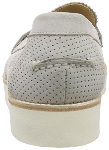 Melvin & Hamilton Bea 1, Mocassins (loafers) femme Gris - Grau (Elko Perfo Light Grey, XL Malden White)