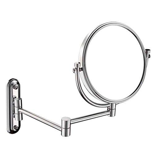 Miroirs de Salle de Bains de courtoisie Tenture Murale Pliant Toilette Télescopique Double Face Zoom Objectif cosmétique 8 Pouces Imagerie Haute définition n'est Pas Facile à brou