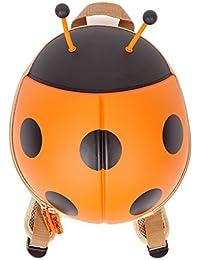 CKB Ltd® Mariquita Niños Niños Bolsas de la escuela de los niños guardería Kindergarten Back Packs | colorido mochila mochila para niñas y niños Premium 3d Lady Bug diseño | resistente | impermeable | para todas las edades con acolchada ajustable correas ORANGE LADYBUG