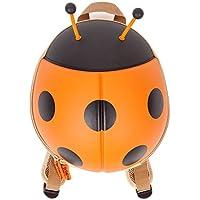 CKB Ltd® ORANGE Arancione Coccinella LADYBIRD Kids Bag Zaino bambini