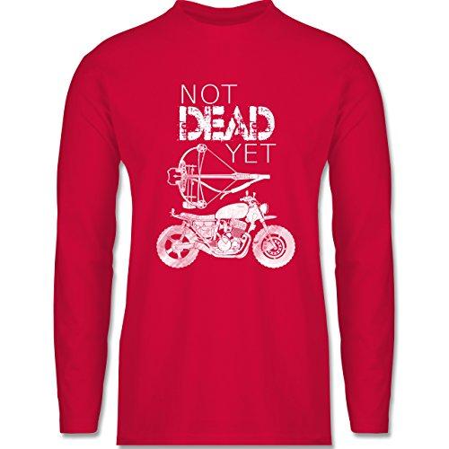 Statement Shirts - Not Dead Yet - Motorrad Armbrust - Herren Langarmshirt Rot