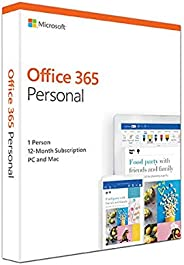 Microsoft Office 365 Personal for 1 user (Windows/Mac), 12 month/1 Year (Activation Key Card)