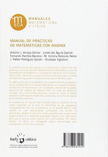Manual de prácticas de matemáticas con Maxima (Manuales. Matemáticas y Física)