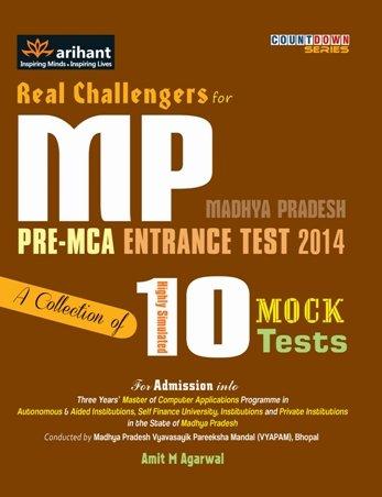 MP Pre-MCA  Entrance Test 2014: 10 Mock Tests