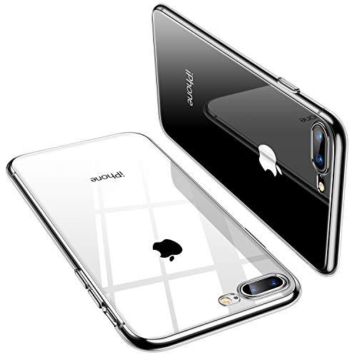 TORRAS iPhone 8 Plus Hülle, iPhone 7 Plus Hülle, Silikon Durchsichtig Dünne Schutzhülle Transparent Handyhülle [ Kratzfest ] Klar Soft Slim Case TPU HandyHulle für iPhone 7 P/iPhone 8P - Klar