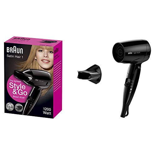 Braun Satin Hair 1 HD130 Style&Go Asciugacapelli da Viaggio
