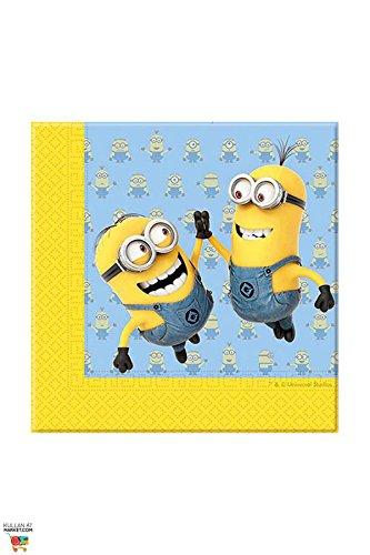 Preisvergleich Produktbild Procos 87178. – Servietten Papier Minions,  20 Stück,  gelb / hellblau