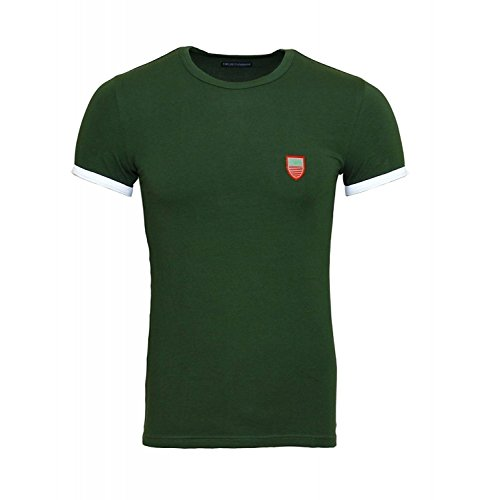 Emporio Armani T-Shirt Crew-neck - Grün, Kleidungsgröße:XL (Armani Grünen T-shirt)