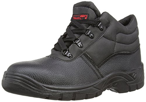 Blackrock Black Leather Work Safety Chukka Boots With Steel Toe Caps And...