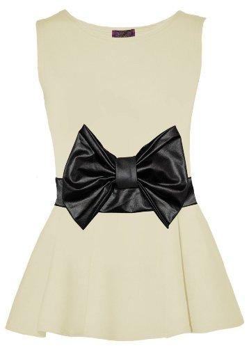 Fast Fashion donna superiore Armel microabrasivi peplo svasato partito Sahne