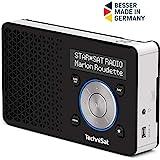 TechniSat Digitradio 1 tragbares DAB Radio mit Akku (DAB+, UKW, Lautsprecher, Kopfhöreranschluss, Favoritenspeicher, OLED Display, klein, 1 Watt RMS) schwarz/silber