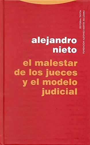 Portada del libro El malestar de los jueces (Estructuras y Procesos. Derecho)
