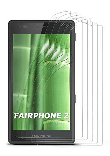 moex 5X FairPhone 2 | Schutzfolie Klar Bildschirm Schutz [Crystal-Clear] Screen Protector Display Handy-Folie Dünn Bildschirmschutz-Folie für FairPhone 2 Bildschirmfolie