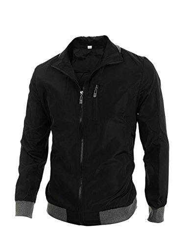 allegra-k-herren-stehkragen-reissverschluss-rippen-saum-jacket
