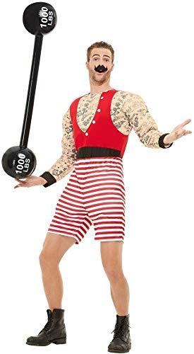 Herren Zirkus Strongman Gewichtheber Hirsch Do Night Party Halloween TV-Buch Film Funny Kostüm Outfit