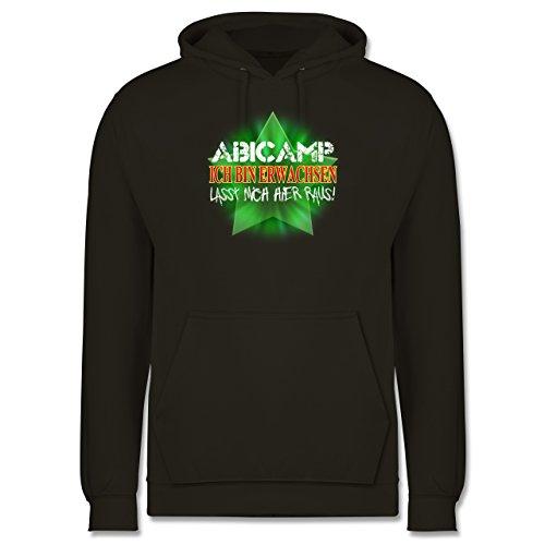 Abi & Abschluss - ABICAMP - ich bin erwachsen lasst mich hier raus! - Männer Premium Kapuzenpullover / Hoodie Olivgrün
