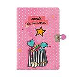 Carnet intime AMY - Journal secret Rose avec cadenas et crayon - Princesse Losange - Derrière la porte - DLP