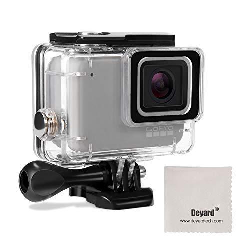Deyard Wasserdichtes Gehäuse für GoPro Hero 7 Weiß GoPro Hero 7 Silber mit Schnellwechselhalterung und Rändelschraube 45 Meter Unterwasserfotografie