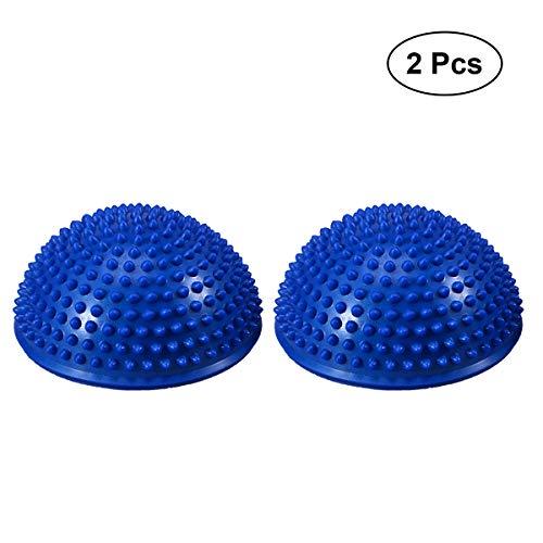 VORCOOL Aufgeblasen Stabilität Wobble Kissen Balance Disc Stabilität Mobility Balance Trainer für Core Training körperliche Rehabilitation Yoga Übung (blau)