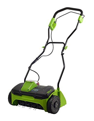 Greenworks 2504807 G40DT30 40V Vertikutierer (ohne Akku und Ladegerät), 40 V, Green